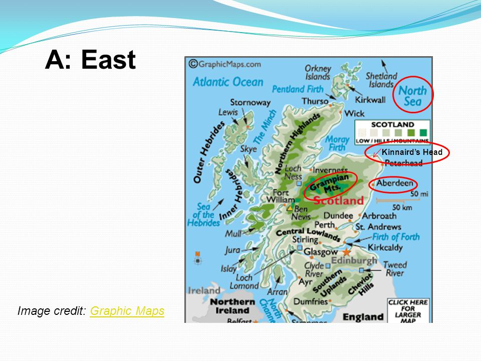 A: East Kinnaird's Head Image credit: Graphic Maps