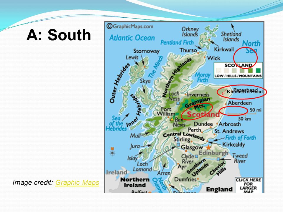 A: South Kinnaird's Head Image credit: Graphic Maps