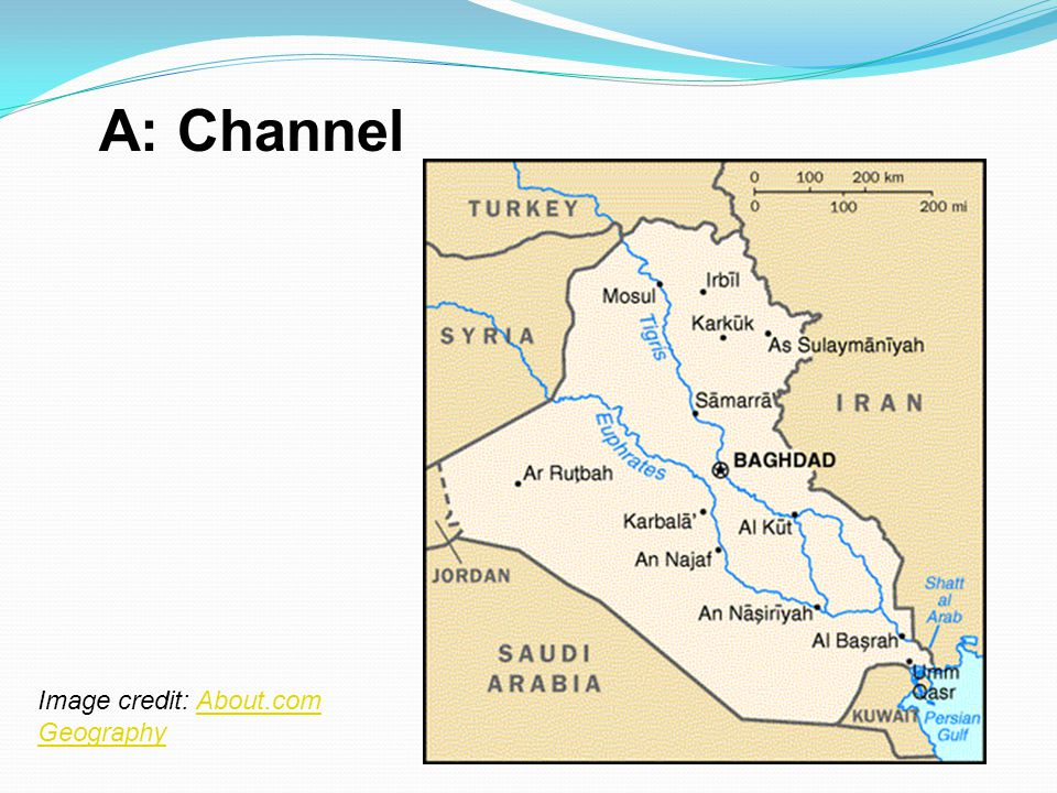 A: Channel Image credit: About.com Geography
