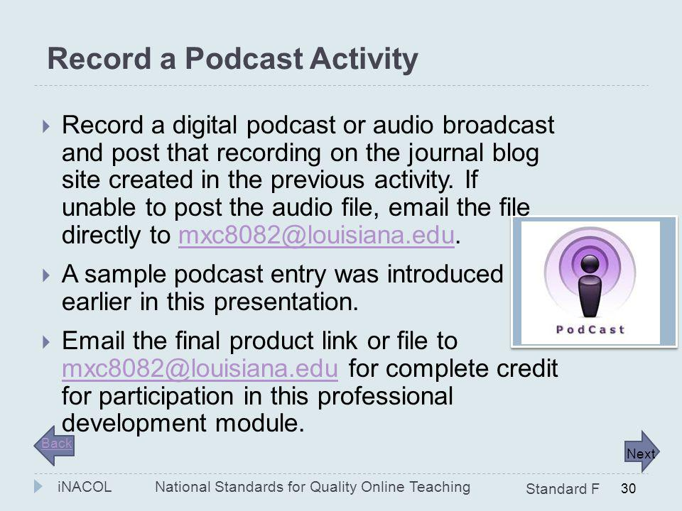Record a Podcast Activity