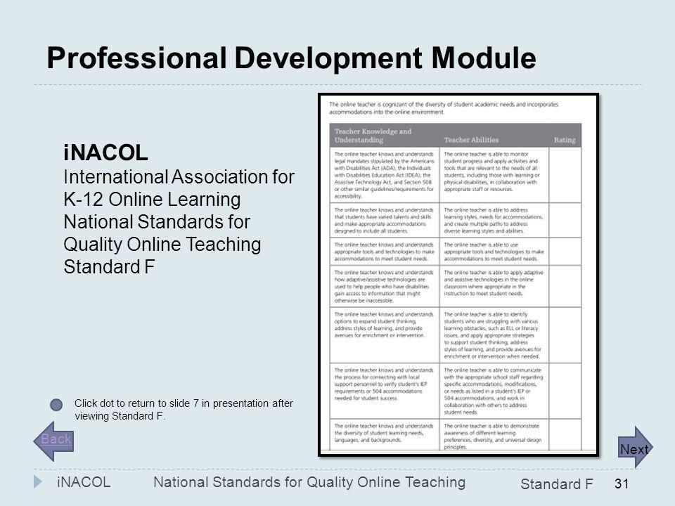 Professional Development Module