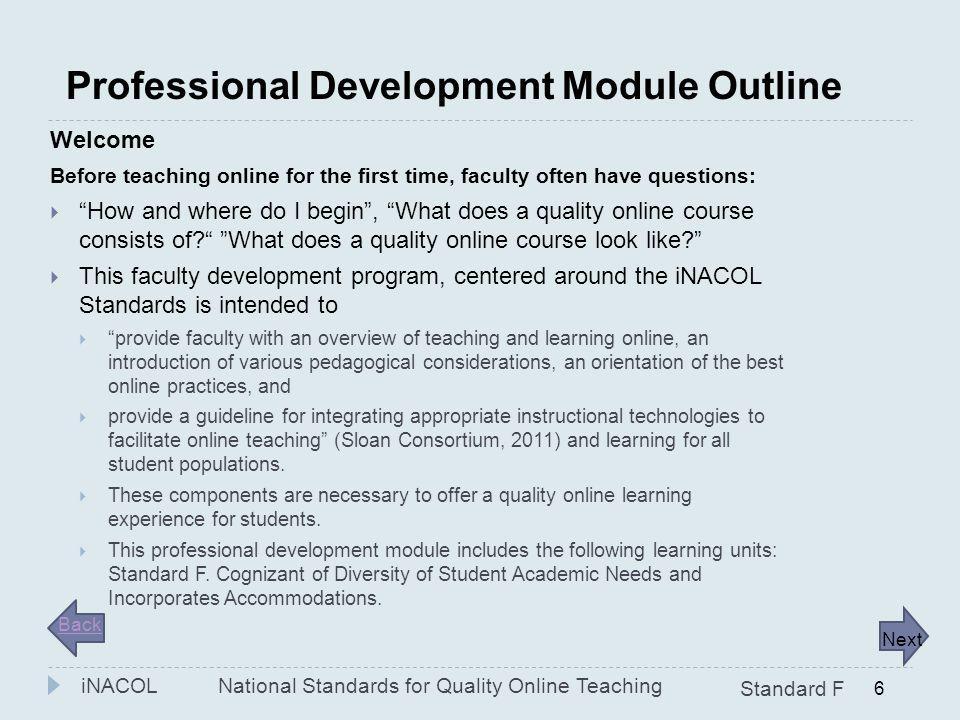 Professional Development Module Outline