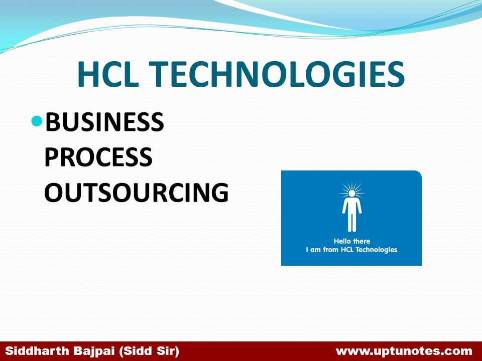 HCL TECHNOLOGIES BUSINESS PROCESS OUTSOURCING