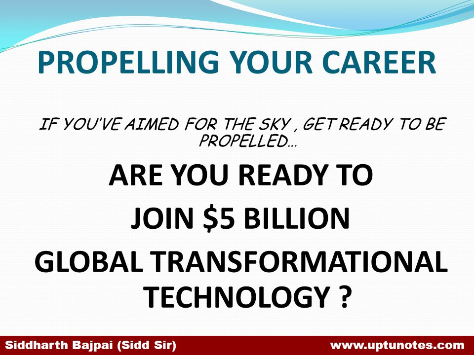 PROPELLING YOUR CAREER