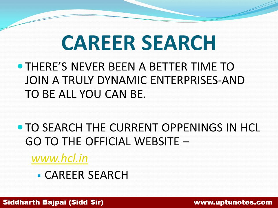 CAREER SEARCH THERE'S NEVER BEEN A BETTER TIME TO JOIN A TRULY DYNAMIC ENTERPRISES-AND TO BE ALL YOU CAN BE.
