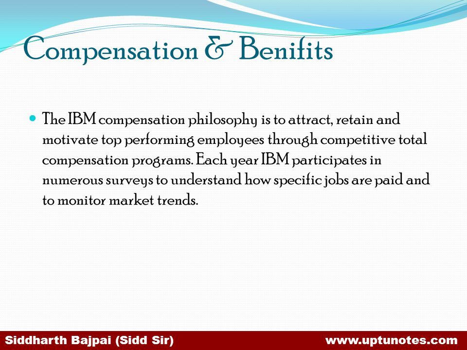 Compensation & Benifits