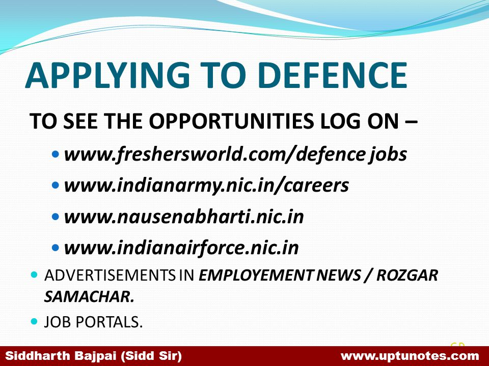 APPLYING TO DEFENCE TO SEE THE OPPORTUNITIES LOG ON –
