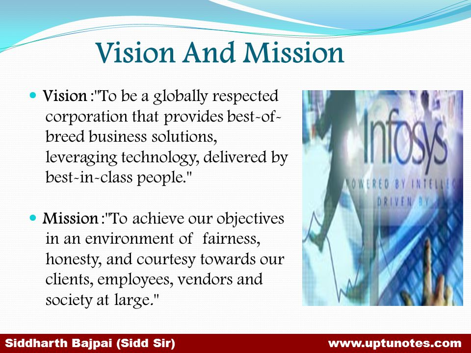Vision And Mission Vision : To be a globally respected