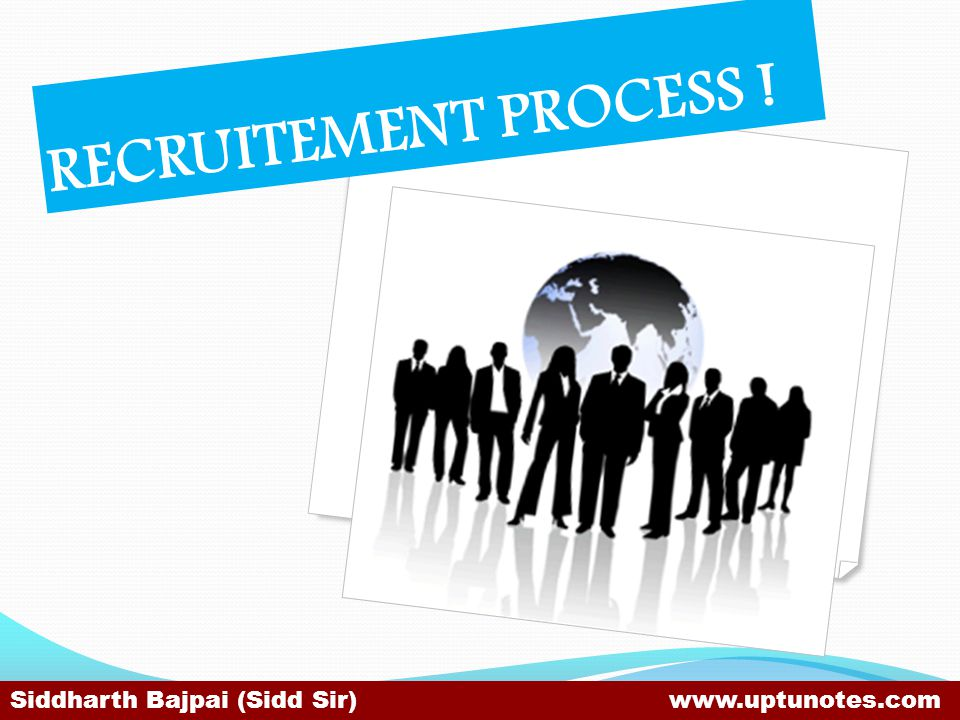RECRUITEMENT PROCESS .