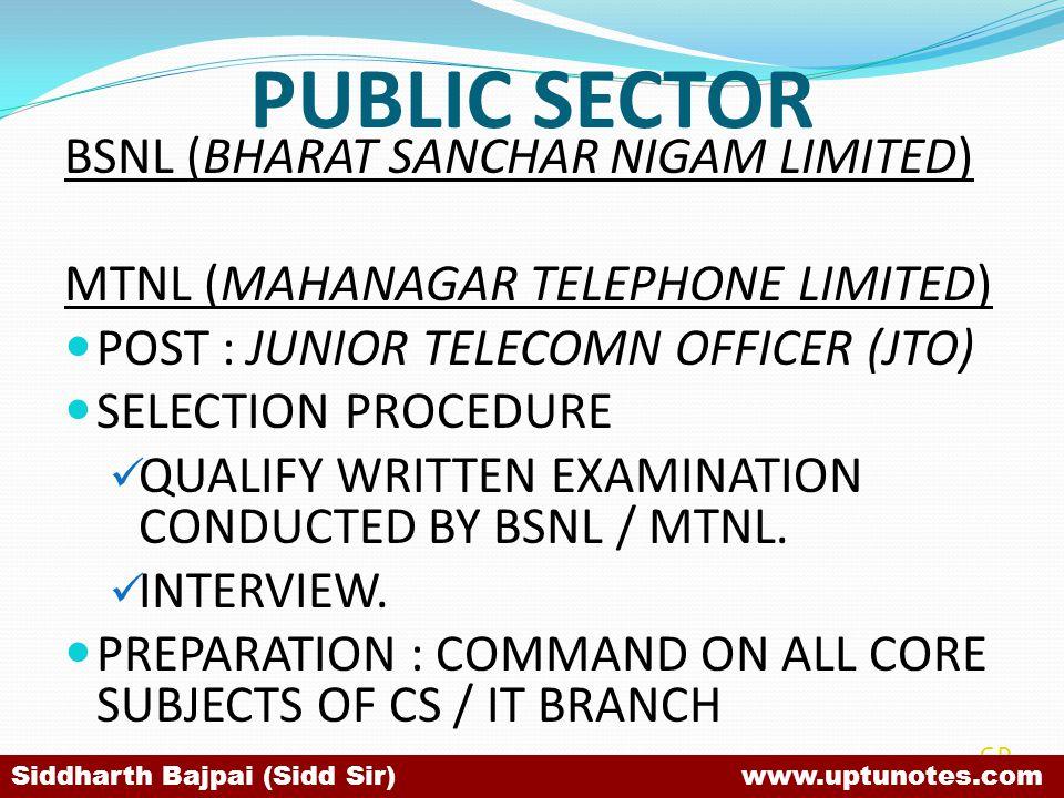 PUBLIC SECTOR BSNL (BHARAT SANCHAR NIGAM LIMITED)