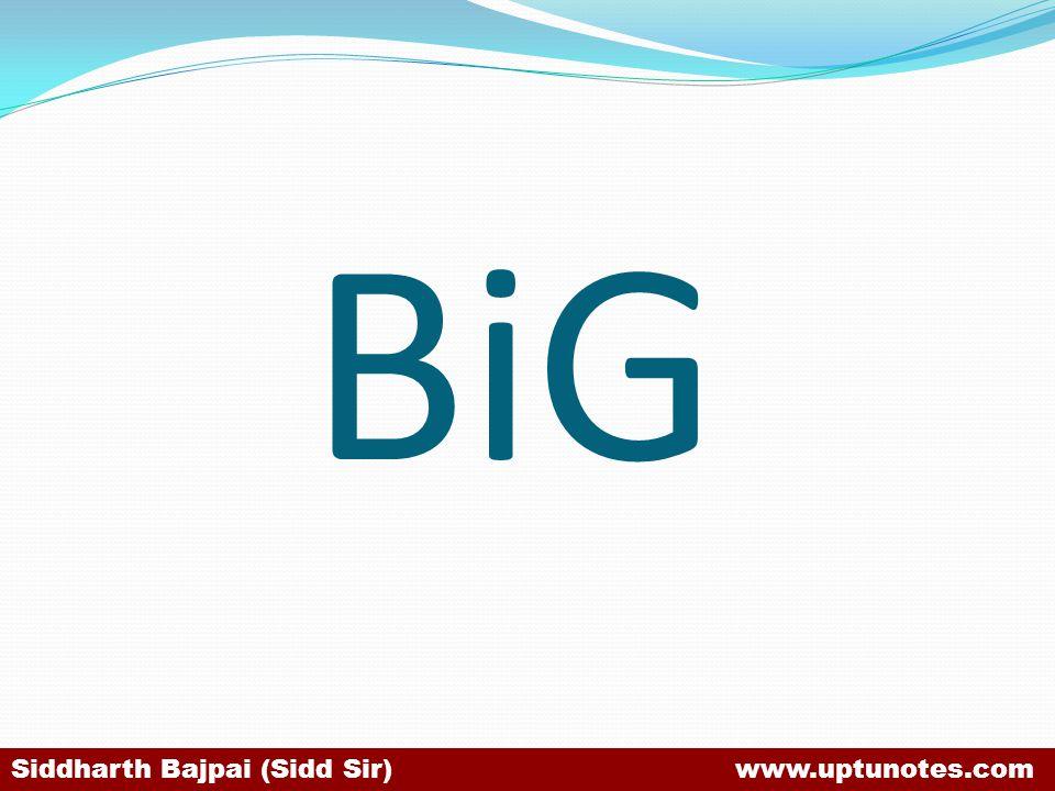 BiG Siddharth Bajpai (Sidd Sir) www.uptunotes.com