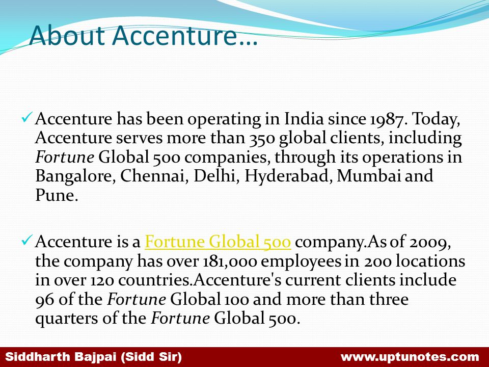 About Accenture…