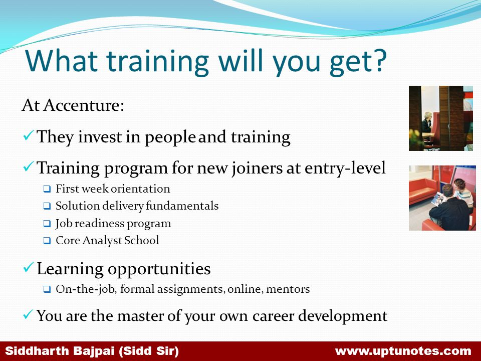 What training will you get
