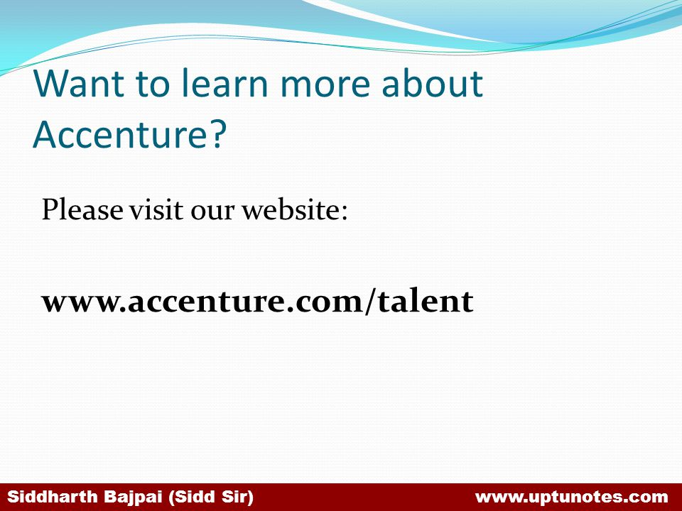 Want to learn more about Accenture