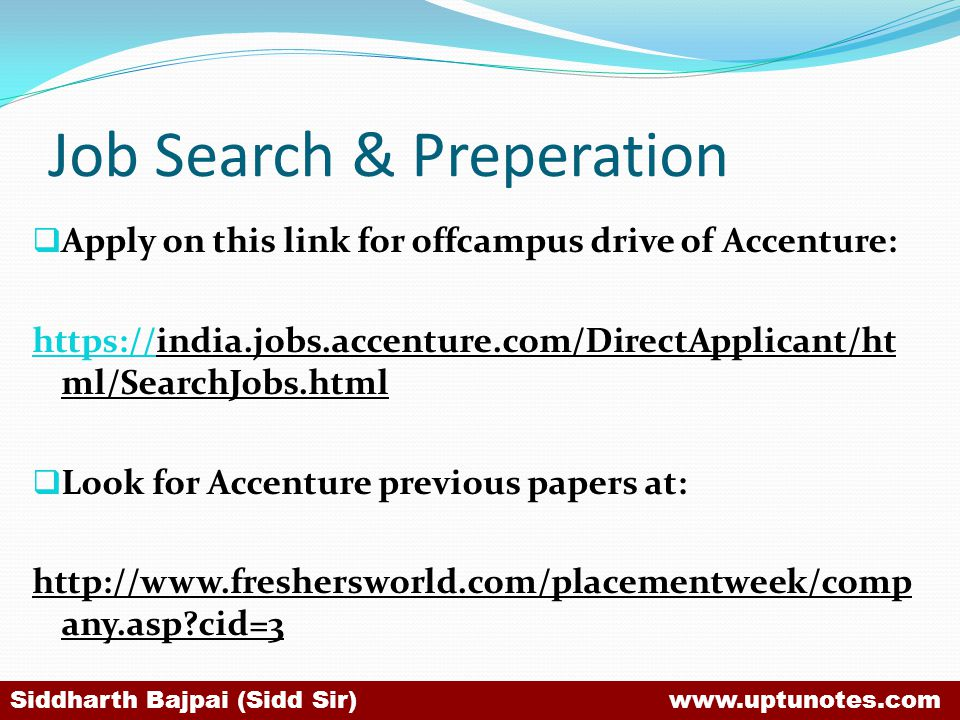 Job Search & Preperation