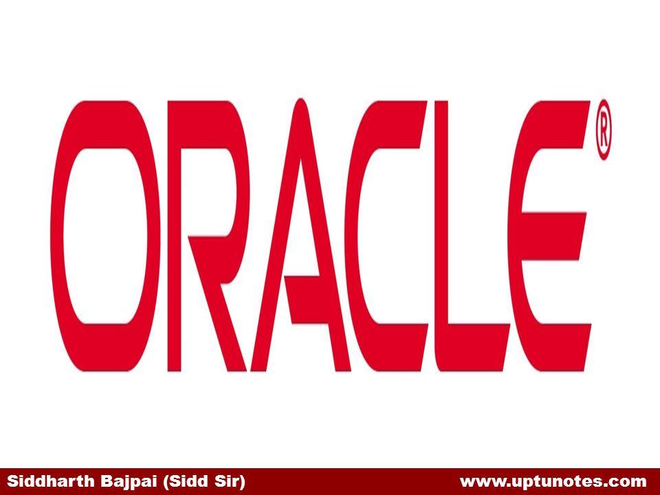 Siddharth Bajpai (Sidd Sir) www.uptunotes.com