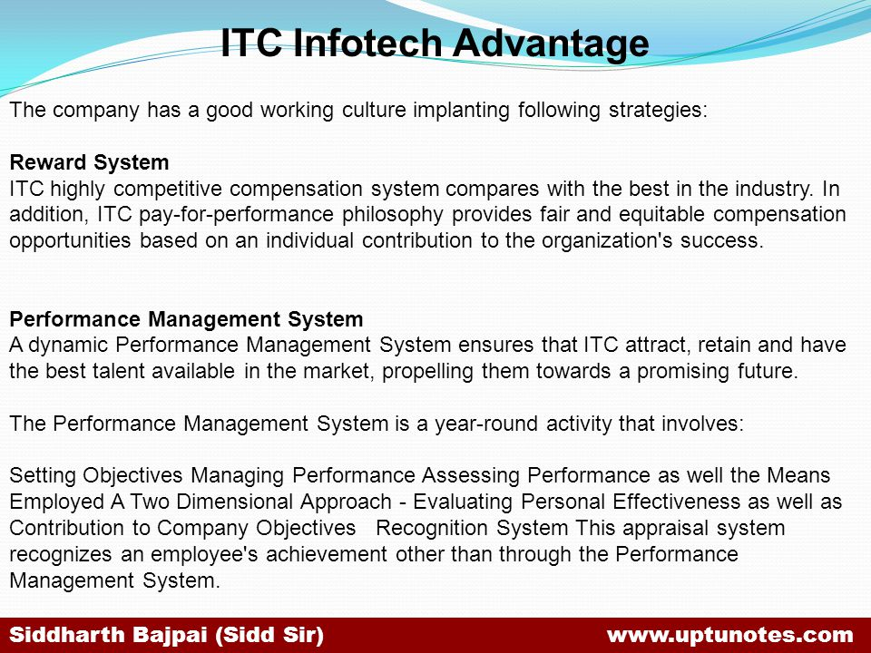 ITC Infotech Advantage