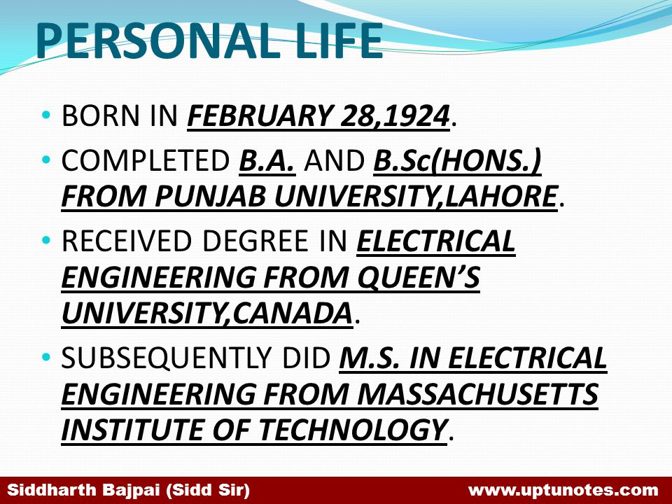PERSONAL LIFE BORN IN FEBRUARY 28,1924.