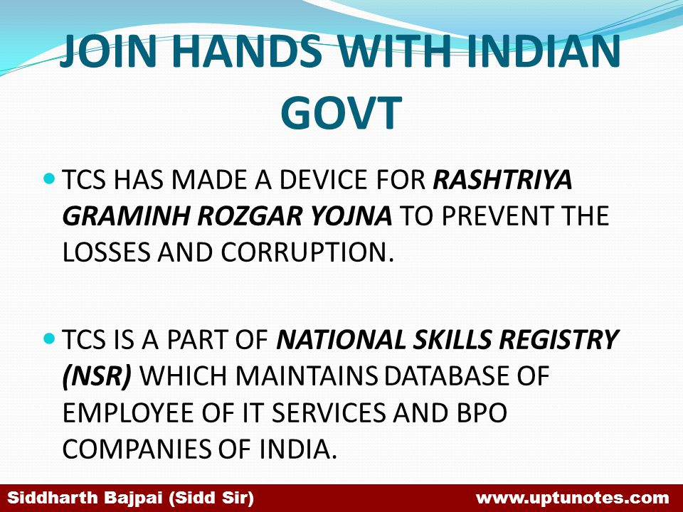 JOIN HANDS WITH INDIAN GOVT