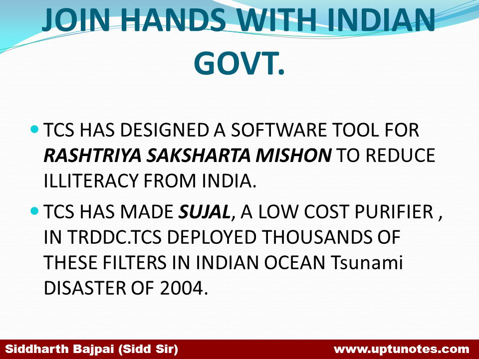JOIN HANDS WITH INDIAN GOVT.