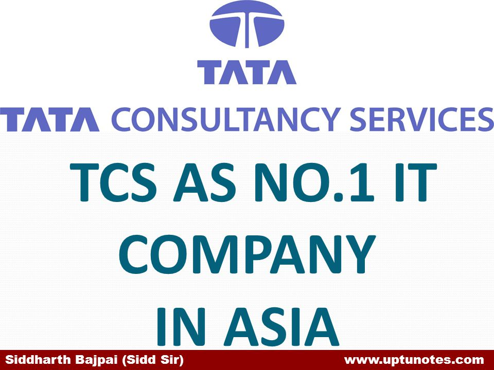 IN 2007 TCS AS NO.1 IT COMPANY IN ASIA