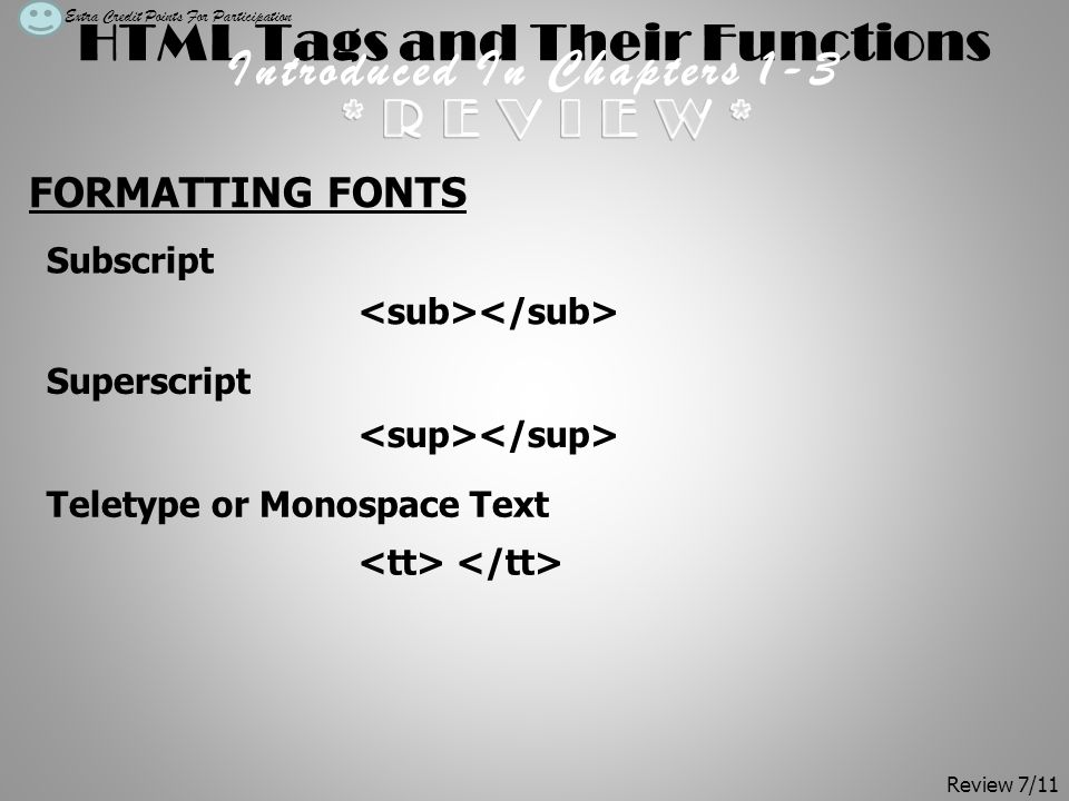 HTML Tags and Their Functions