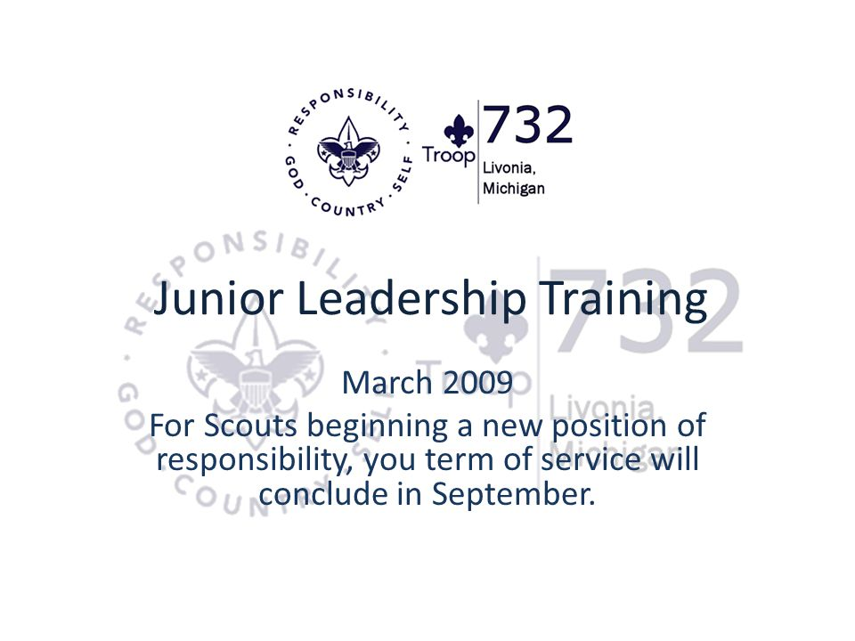 Junior Leadership Training