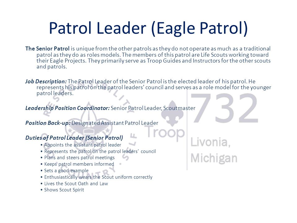 Patrol Leader (Eagle Patrol)