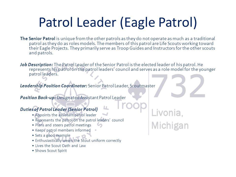 Patrol Leader (Eagle Patrol)