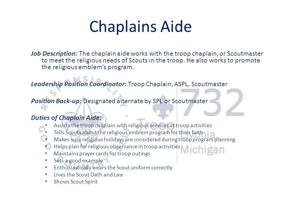 Chaplains Aide