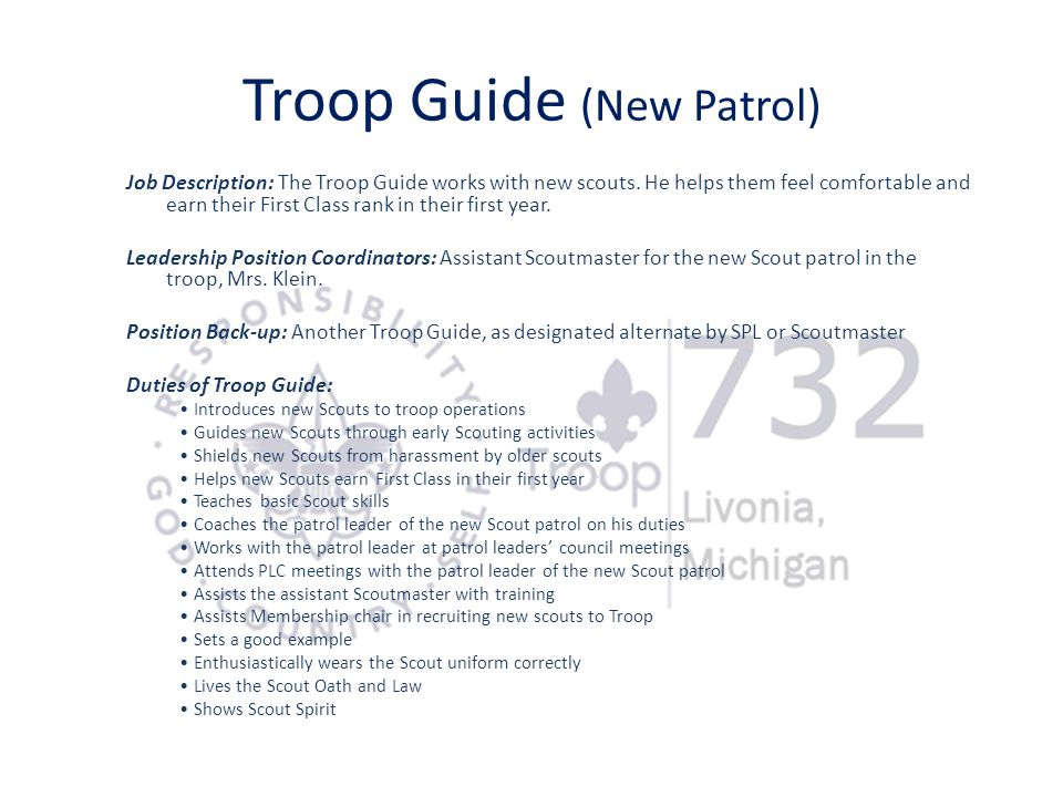 Troop Guide (New Patrol)