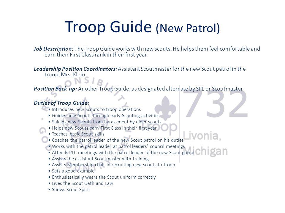 Troop Guide (New Patrol)