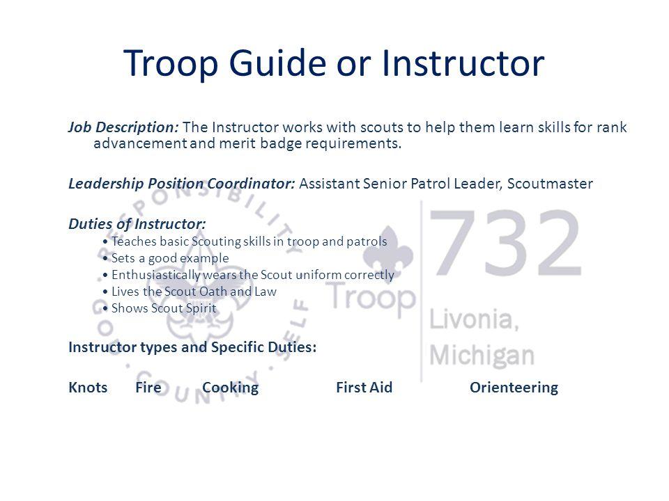 Troop Guide or Instructor