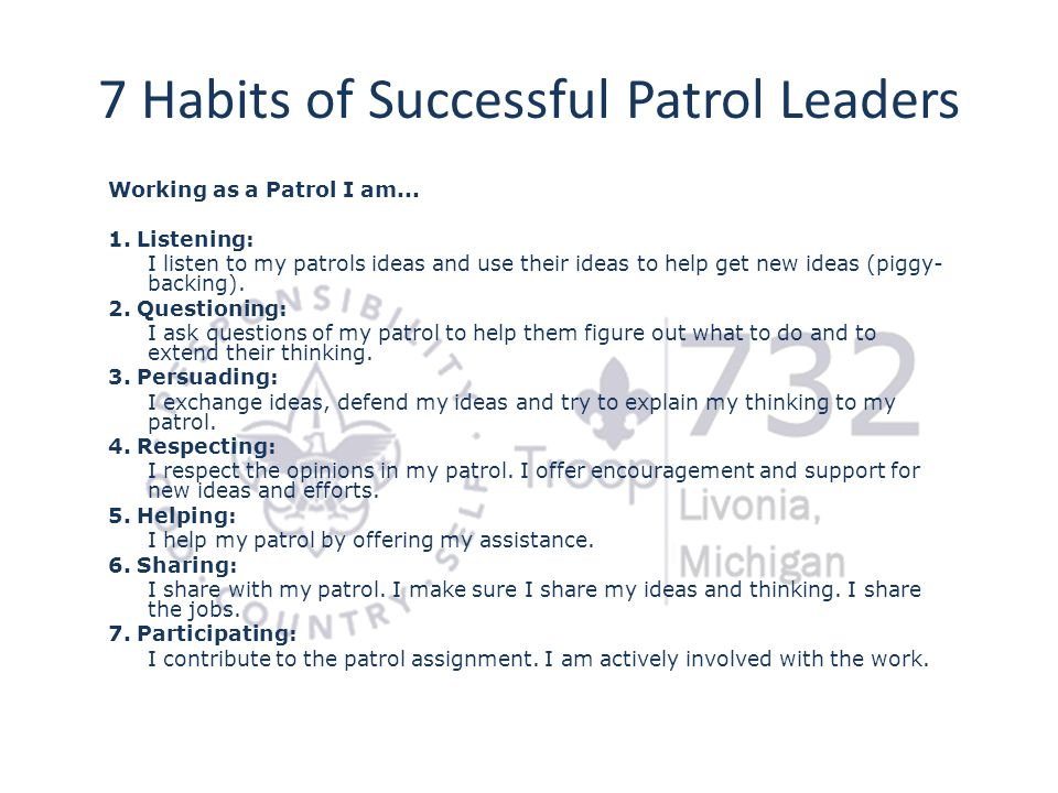 7 Habits of Successful Patrol Leaders