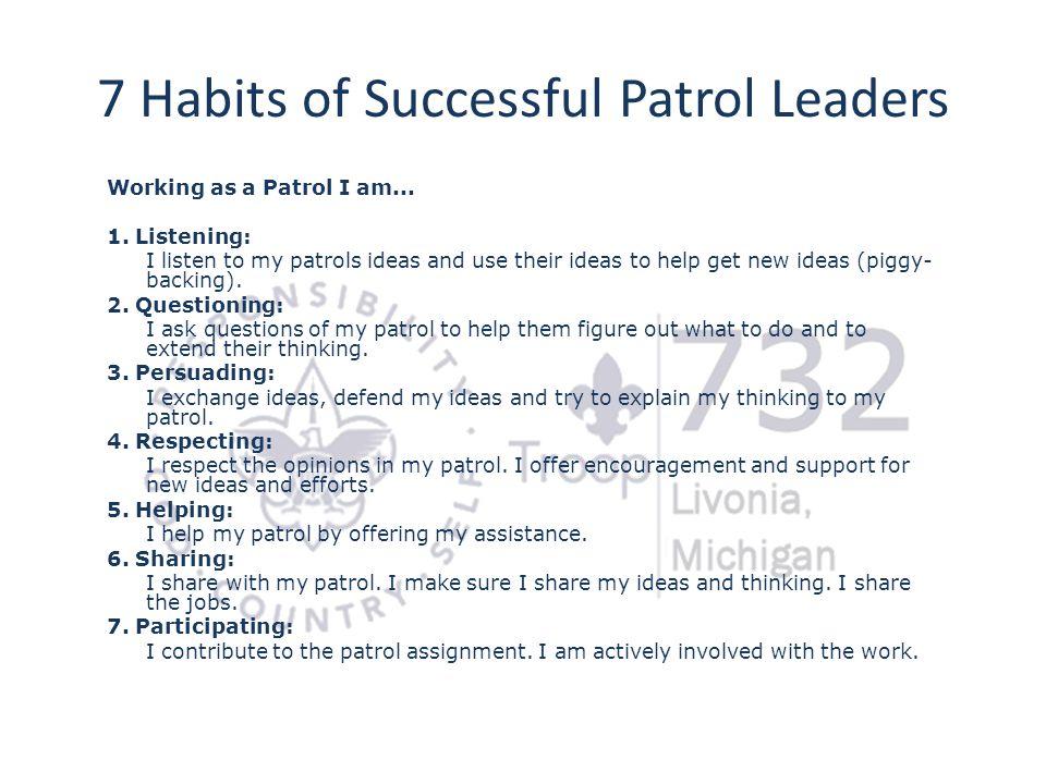 7 Habits of Successful Patrol Leaders