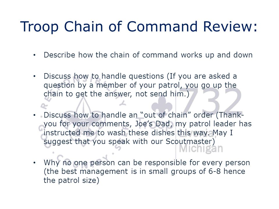 Troop Chain of Command Review: