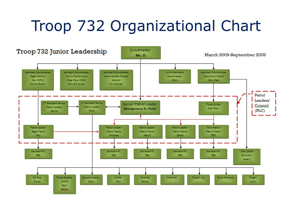 Troop 732 Organizational Chart