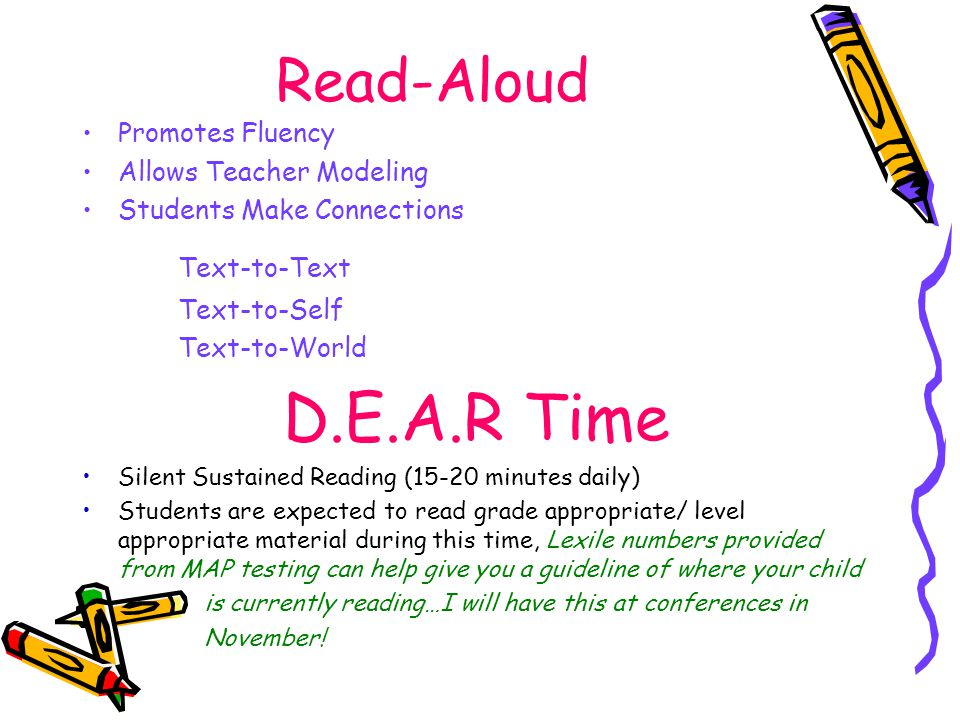 D.E.A.R Time Read-Aloud Text-to-Text Promotes Fluency
