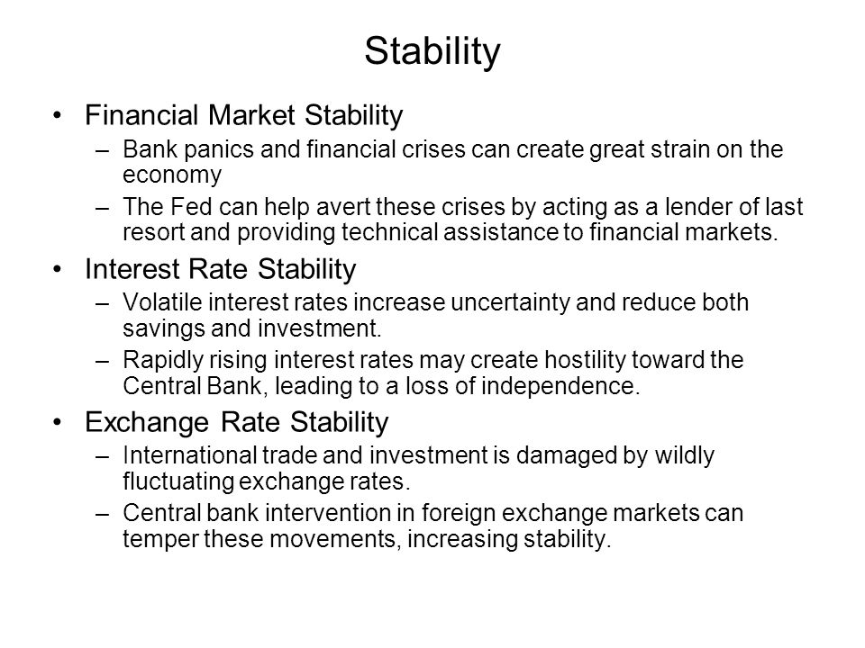 Stability Financial Market Stability Interest Rate Stability