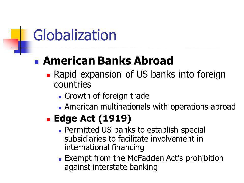 Globalization American Banks Abroad