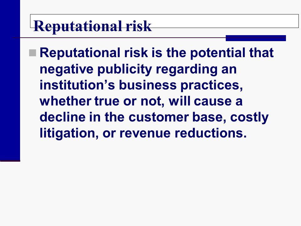 Reputational risk