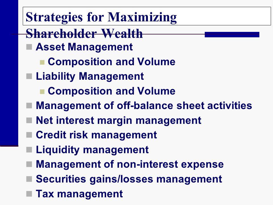 Strategies for Maximizing Shareholder Wealth