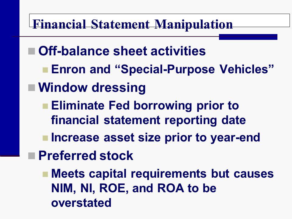 Financial Statement Manipulation