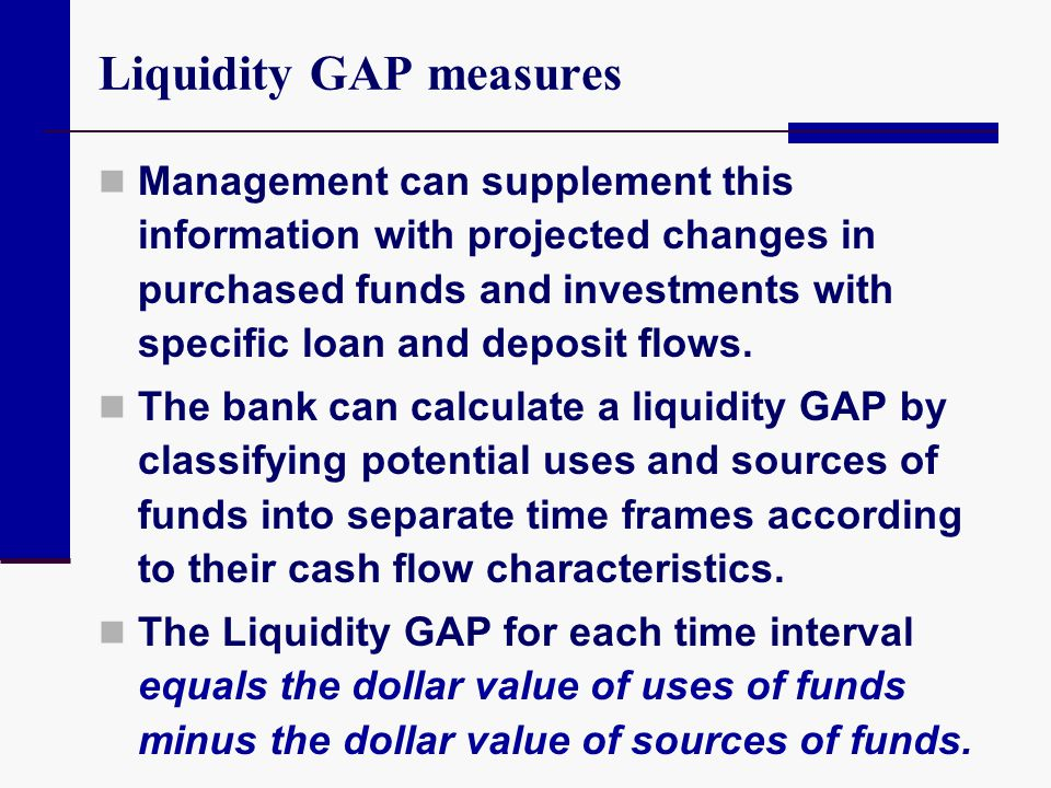 Liquidity GAP measures
