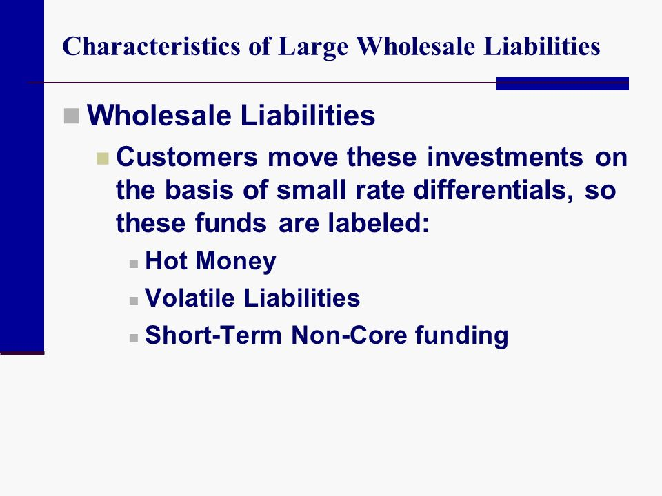 Characteristics of Large Wholesale Liabilities