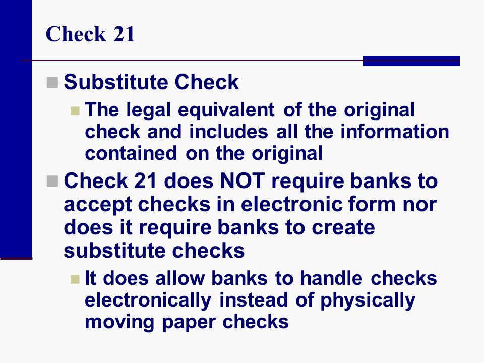 Check 21 Substitute Check