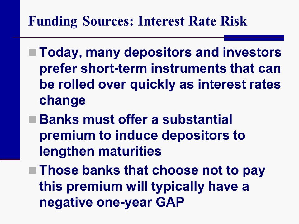 Funding Sources: Interest Rate Risk