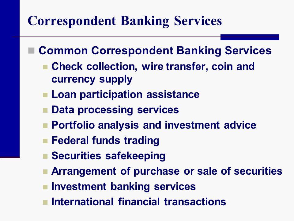 Correspondent Banking Services