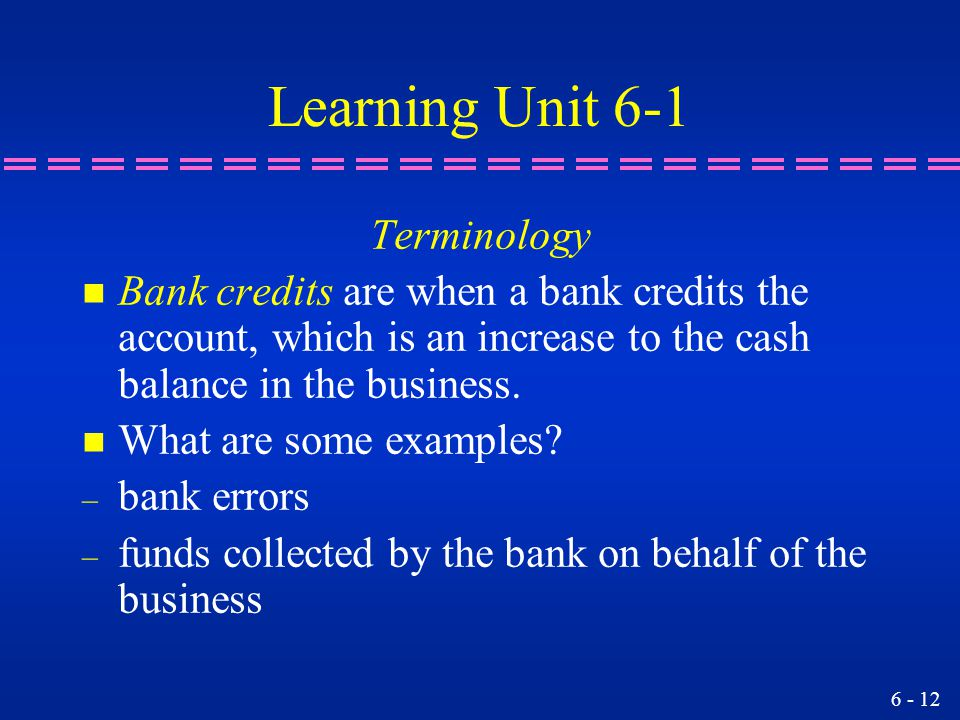 Learning Unit 6-1 Terminology