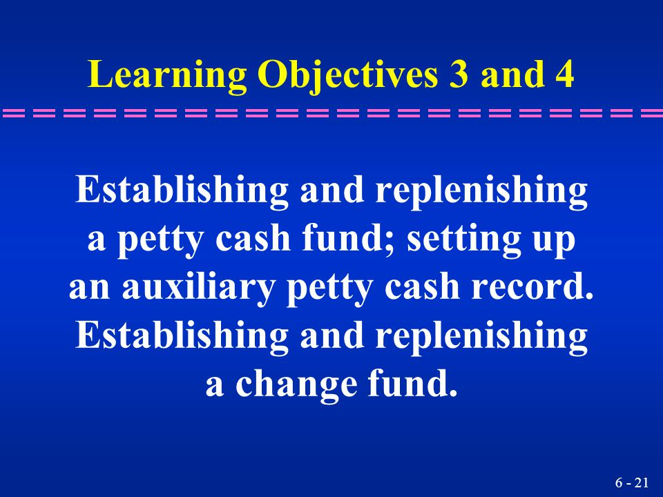 Learning Objectives 3 and 4
